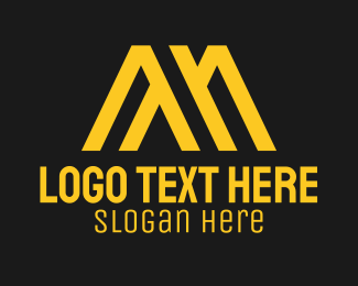Initial - Golden Architect Letter M logo design