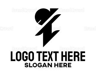 Man - Ninja Letter I logo design