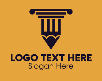 Newspaper - Education Learning School Pencil Column logo design