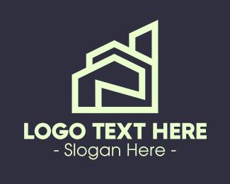 Apartment - Modern Green Apartment logo design