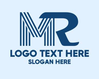 Mr - M & R logo design