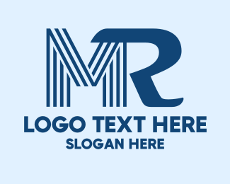"""Blue Monogram M & R"" by marrijell"