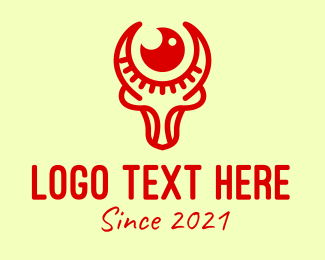 Ranching - Red Ox Zodiac Sign logo design
