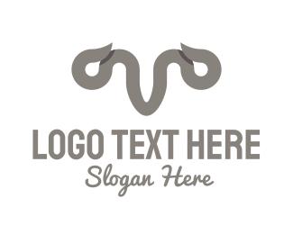 Longhorn - Grey Horns logo design