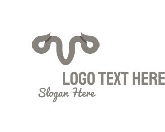 Horns - Grey Horns logo design