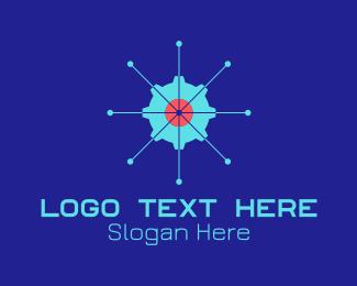 Startup - Tech Cogwheel Startup logo design