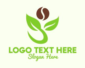 Natural Product - Organic Coffee Plant logo design