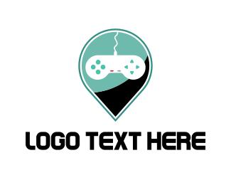 Joystick - Game Location logo design