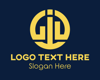 """Round Business Monogram"" by SimplePixelSL"