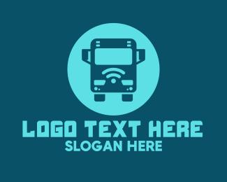 Wifi - Blue Wifi Bus logo design