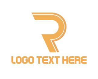 Golden Letter R Logo