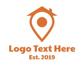 Orange Orange - Orange Pin House logo design