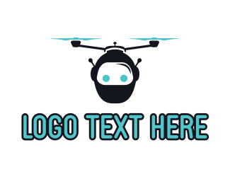 Quadcopter - Robo Drone logo design