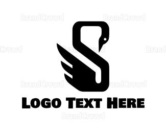 Duck - Swan Letter S logo design