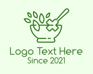 Medical Drug - Medical Herb Outline logo design