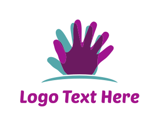 Massage - Hand Silhouette logo design