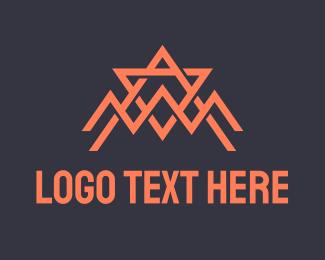 A - Abstract Orange Spider Tech logo design