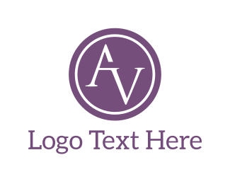 Corporate - A & V logo design