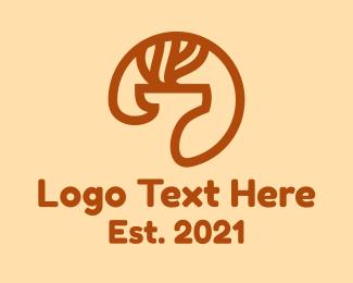 Doe - Minimalist Deer logo design