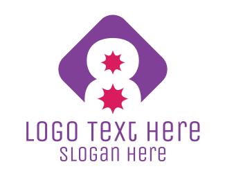Number - Number 8 Explosion logo design