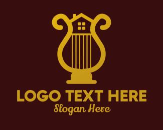 Real Estate Broker - Gold Harp House  logo design