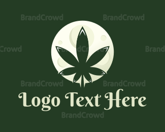 Marijuana Leaf - High Moon logo design