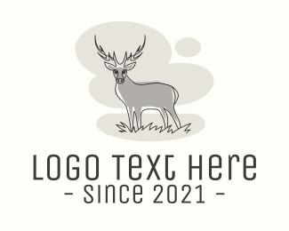 Forest Animal - Wildlife Deer logo design