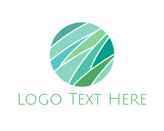 Grass - Mint Grass Circle logo design
