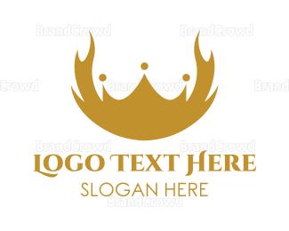 Crown - Deer Crown logo design