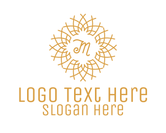 Intricate - Abstract Twigs Lettermark logo design