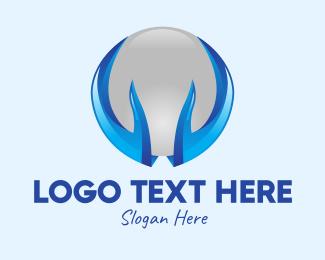 Holding - Hands Holding Sphere  logo design