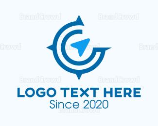 Wanderlust - Travel Compass logo design