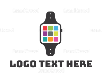 Iphone - Smart App Watch logo design