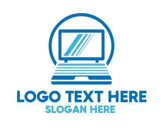 Monitor - Laptop Computer logo design