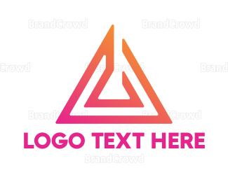 Saas - Abstract Pink Arrow logo design