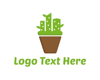 Green City - Cactus City logo design