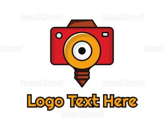 Bulb - Camera Flash Bulb  logo design