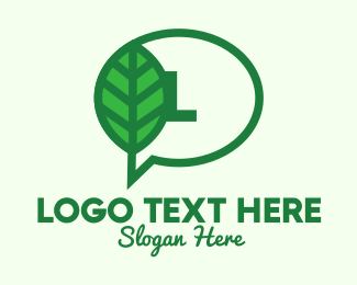 Customer Support - Green Environment Chat Letter logo design