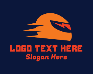 Flash - Thunder Helmet logo design