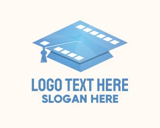 Graduate - Film School Academy Graduate logo design