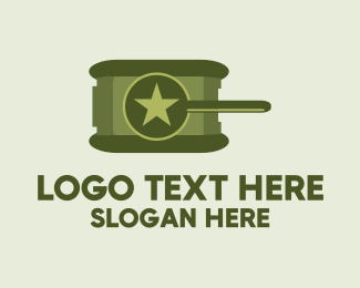 Cannon - Army Star Tank logo design