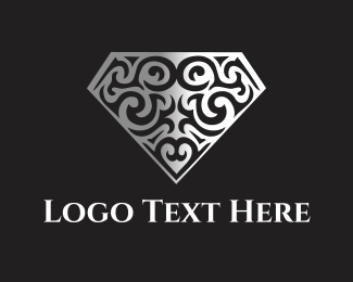 Marriage - Floral Diamond logo design