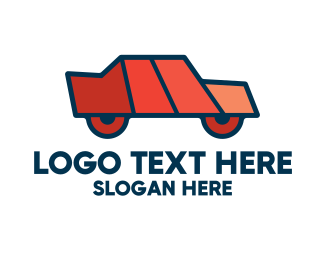 Geometric Shapes - Geometric Toy Car logo design