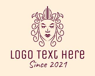 Queen - Ancient Medieval Queen logo design