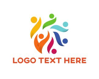 Crowd - Colorful Crowd logo design