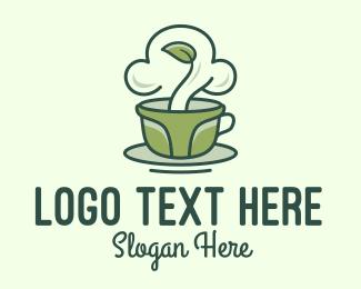 Saucer - Green Organic Coffee logo design