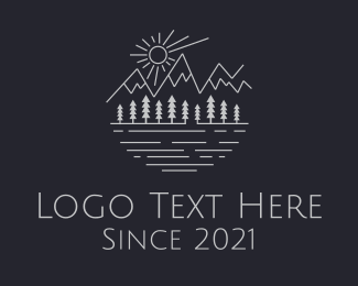 Lakeside - Mountain Forest River Lake logo design