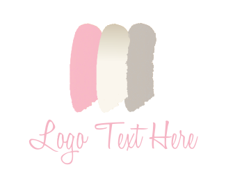 Brushstroke - Feminine brushstrokes logo design