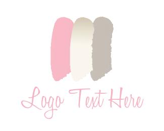 Makeup - Feminine brushstrokes logo design