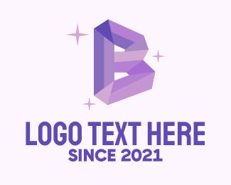 Quartz - Shiny Gem Letter B logo design
